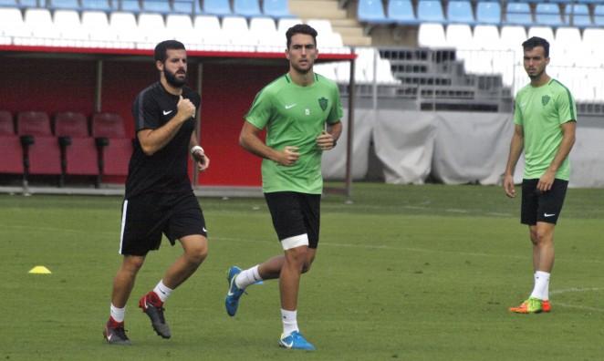 Juan Ibiza, en un entrenamiento del Almería (Foto: UD Almería).