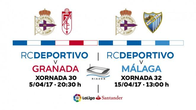 Oferta de entradas conjuntas para los partidos ante Granada y Málaga
