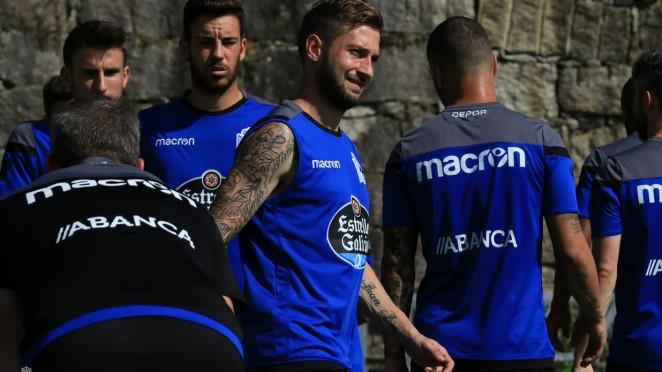Fede Cartabia, Borja Valle y Bicho se incorporaron esta tarde al entrenamiento de grupo