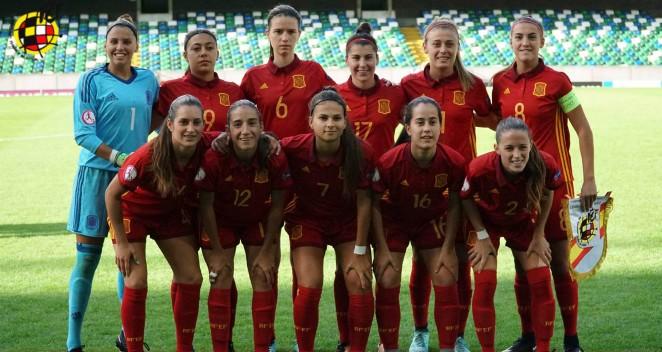 Nuria Rábano arranca como titular con España en el Europeo Sub-19