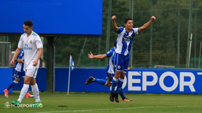Fabril supera al Real Madrid Castilla a base de golazos