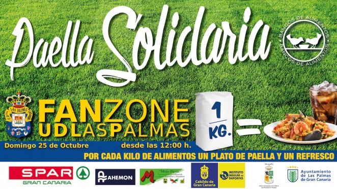 La fan zone de la ud las palmas ofrecer este domingo una paella solidaria para 5000 personas - Banco de alimentos de las palmas ...