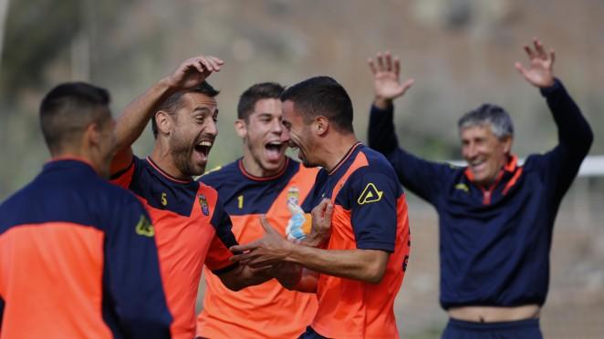 Resultado de imagen de La UD Las Palmas prepara el partido de Copa ante el Atlético