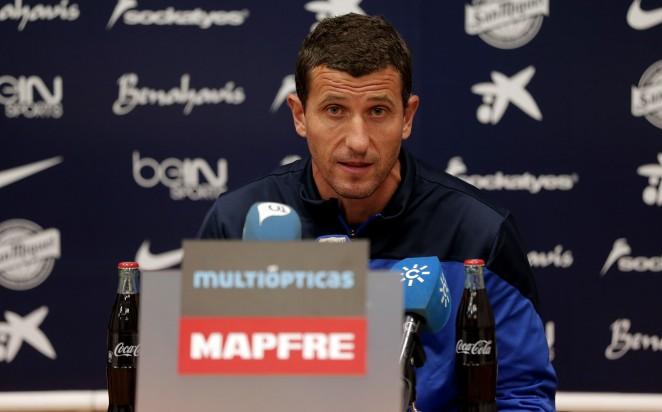 Gracia, en rueda de prensa / Málaga CF