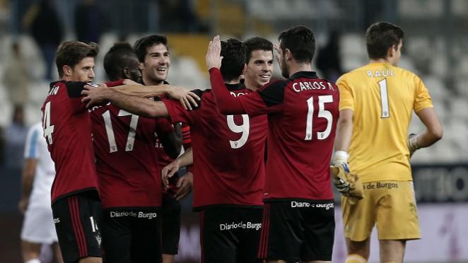 El Mirandés se carga al Málaga, el Madrid eliminado