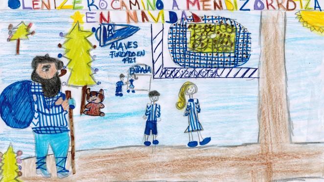 Dibujos De Navidad Del Olentzero.Los Txikis De Las Escuelas Nos Felicitan La Navidad Con Sus