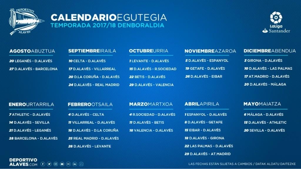 Calendario Liga Santander 2019 20 Betis.Consulta El Calendario Albiazul Para La Temporada 2017 18