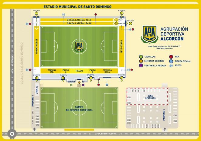 Plano del Estadio Municipal de Santo Domingo 57b275f4f5cdf
