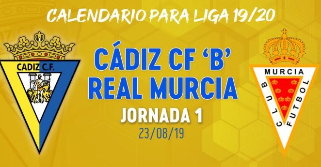 Calendario Segunda B Grupo 1.El Cadiz B Arrancara La Liga Recibiendo Al Real Murcia Cadiz Cf