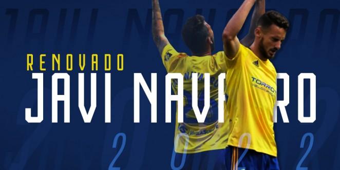 Javi Navarro renueva con el Cádiz.