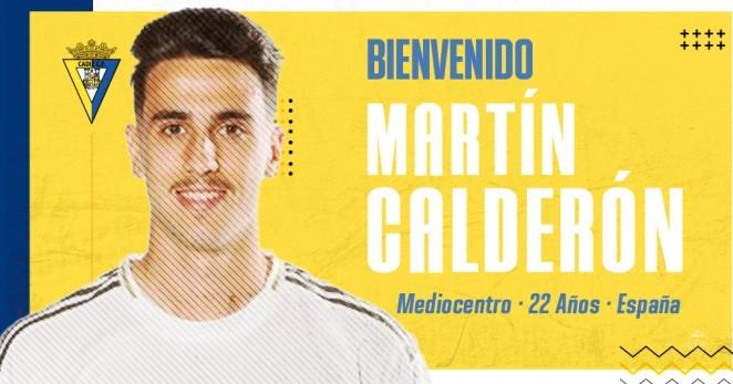 Martín Calderón, nuevo jugador del Cádiz.
