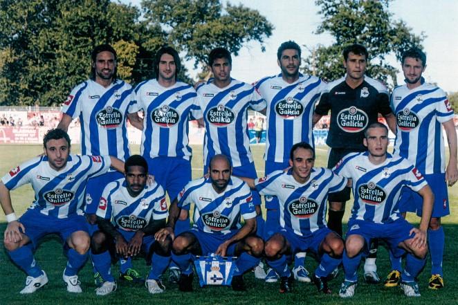 El Dépor celebró su 40ª campaña en Primera División con una primera vuelta