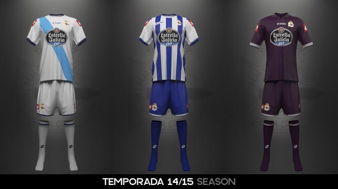 El uniforme del RC Deportivo ha variado de diseño en distintas ocasiones a  lo largo de su dilatada historia 03b503ee7b2