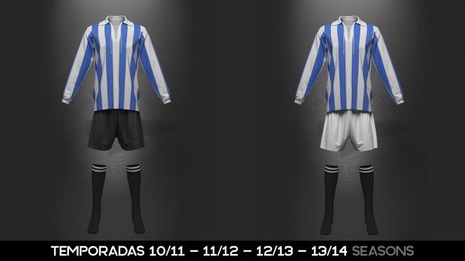 RCD   Camisetas Históricas. El uniforme del RC Deportivo ha variado de ... 537f5a9204c