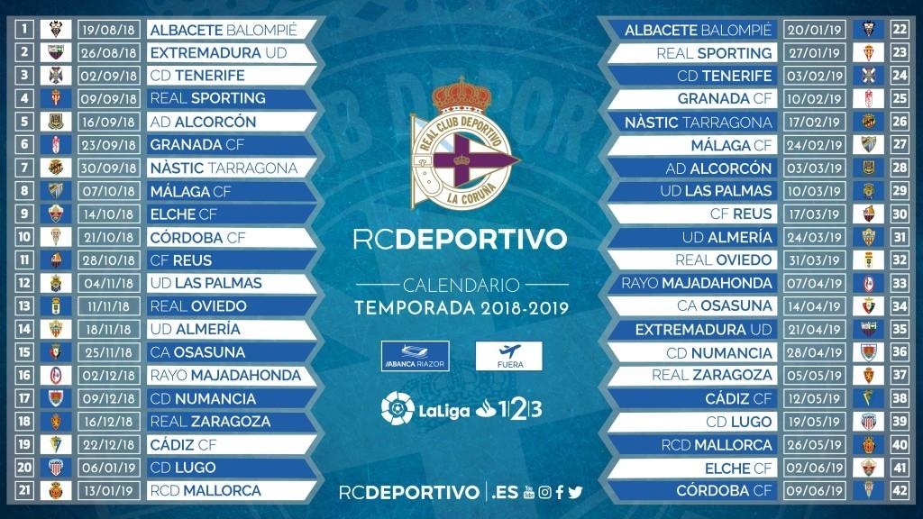 Calendario La Liga 2019.Aprobado El Calendario 2018 2019 De Laliga Pagina Oficial Del R C
