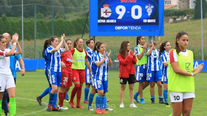 El Deportivo goleó al CD Monte en Abegondo (Foto: RCD).