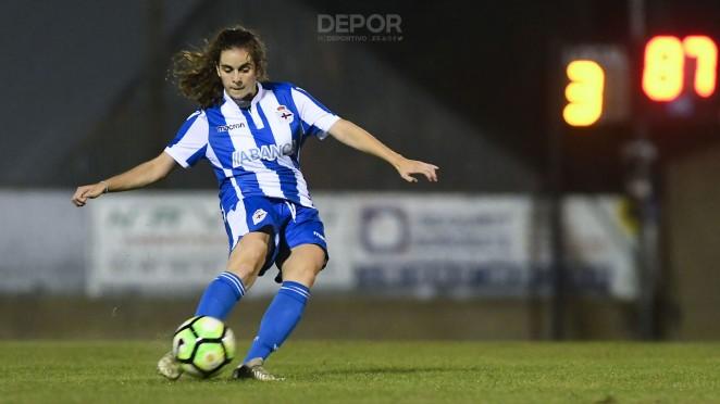 Teresa Abelleira, en un partido con el Dépor ABANCA (Foto: RCD).