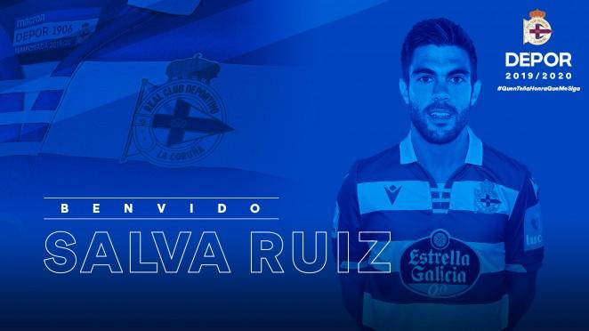 Salva Ruiz, nuevo jugador del Dépor (Foto: RCD).