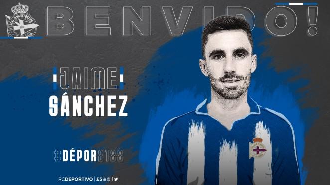 Jaime Sánchez, nuevo jugador del Dépor.