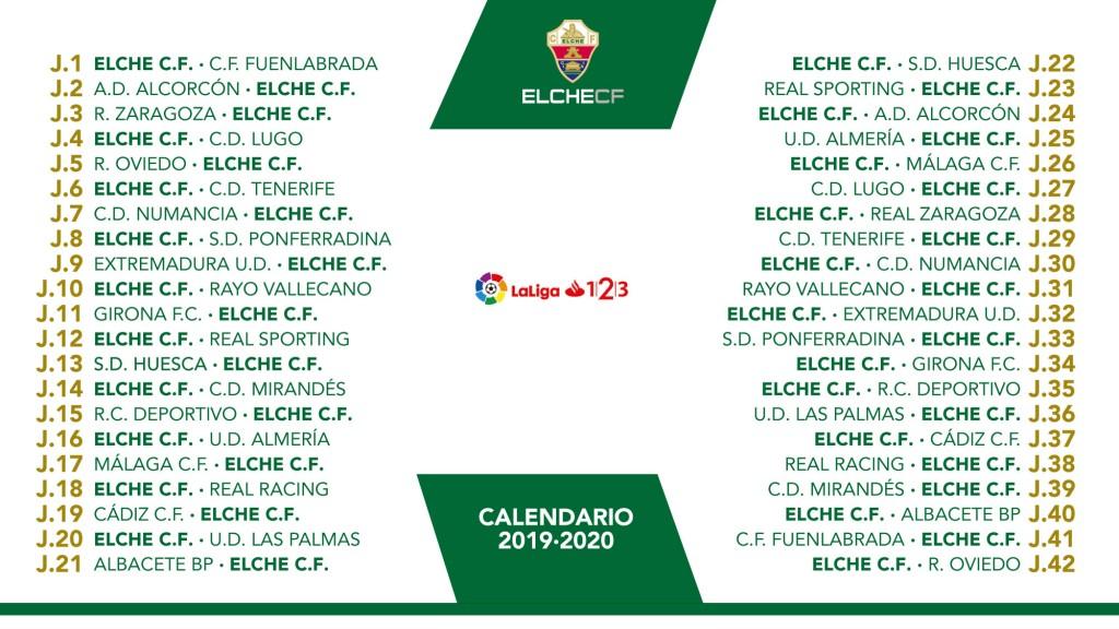 Calendario La Liga 2019.Equipo Calendario Para La Temporada 2019 2020 En Laliga 1 2 3