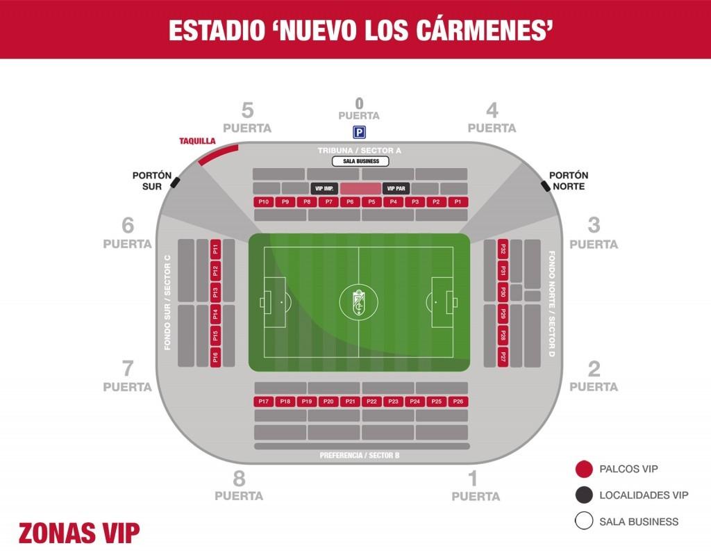 Palcos Vip Gcf Granada Web Oficial