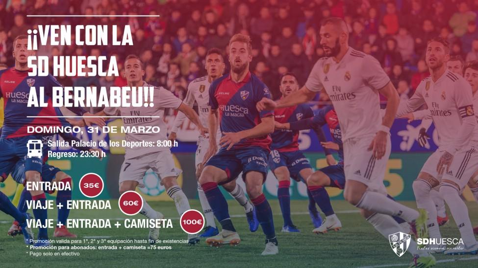 Viaje organizado al Real Madrid-SD HuescaPromoción desde el club para  animar a los aficionados a viajar la próxima semana a Madrid  bus + entrada  por 60 ... 6acb6756c0bc1