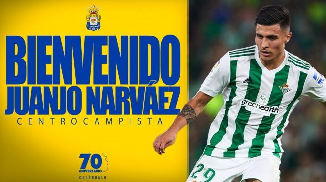 El Centrocampista Juanjo Narváez Llega Cedido Del Real Betis Las Palmas Web Oficial