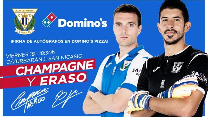 Javier Eraso y Nereo Champagne firmarán el próximo viernes a las 18:30h. en Domino's Pizza (San Nicasio)  Leganés - Web Oficial