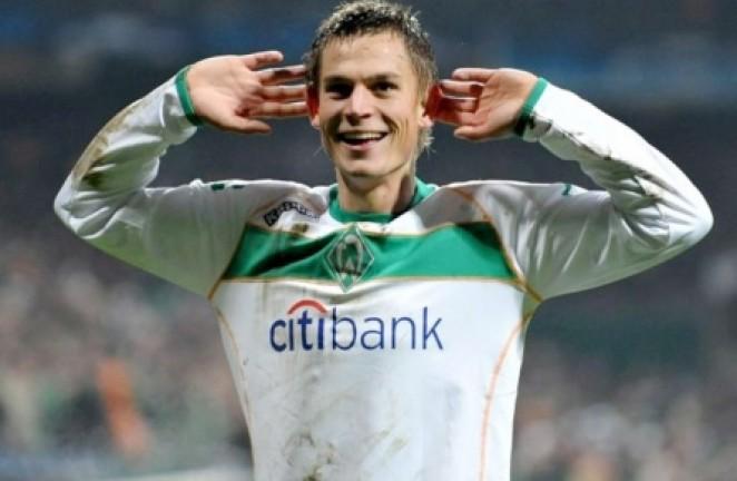 Rosenberg celebra un gol con el Werder