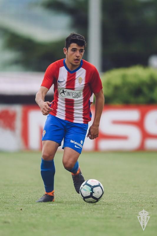 David Fernández, con el Sporting de Gijón (Foto: RSG).